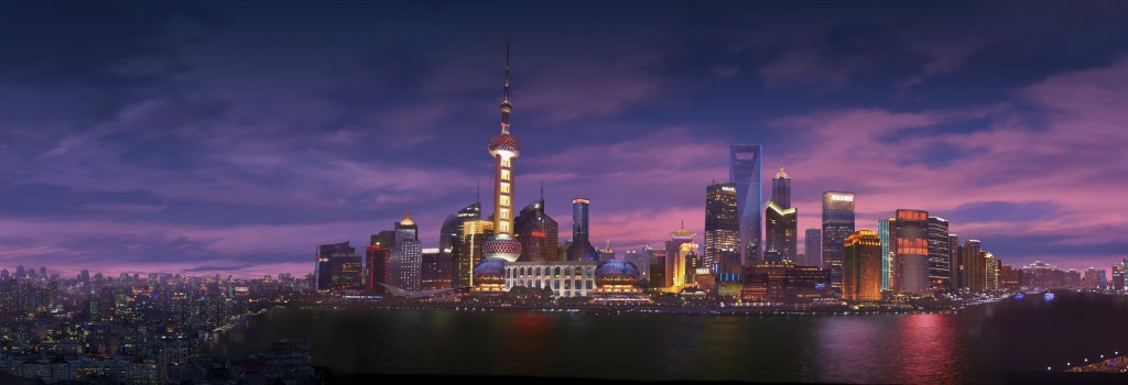 """Rise of the Guardians"" Shanghai Cityscape, photoshop cs5.1"