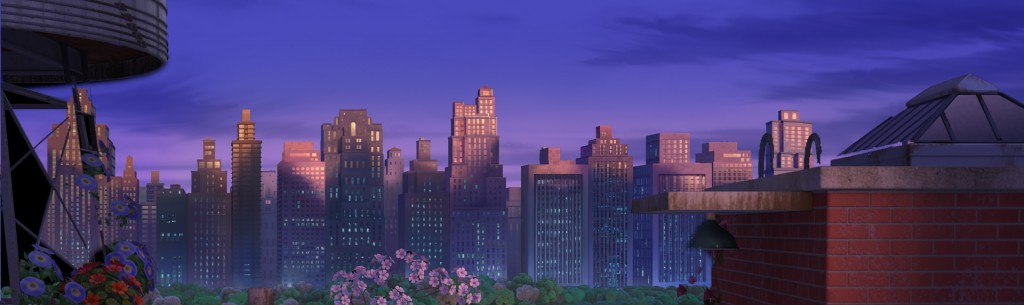 """The Bee Movie"" City Park, C.G. Matte Painting, photoshop cs5.1"