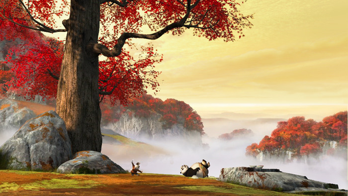"""Kung Fu Panda""  C.G. Back Ground Matte Painting, photoshop cs5.1"