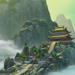 """Kung Fu Panda"" Chinese Palace. , photoshop cs5.1, bg mountains assisted with Vue"